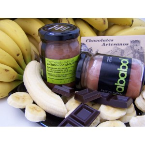 Mermelada de Plátano con Chocolate - Caja de 6 tarros de 215 grs