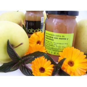 Mermelada de Manzana con Menta y Caléndula - Caja de 6 tarros de 215 grs