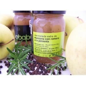 Mermelada de Manzana con Romero a la Pimienta - Caja de 6 tarros de 215 grs